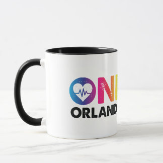 One Orlando One Pulse Rainbow Heart Mug