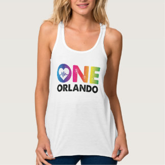 One Orlando One Pulse Rainbow Heart Tank Top