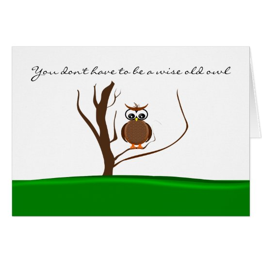 One Owl/Two Owls Sitting in a Tree - Valentine Card