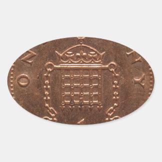 one penny oval sticker