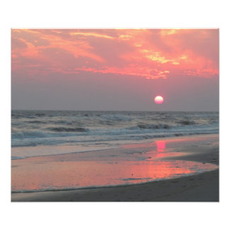 One Perfect Sunset - Oak Island, North Carolina Photo