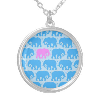 One Pink Elephant in a Herd of Blue Pendants