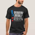 One Pint Men's Black T-Shirt