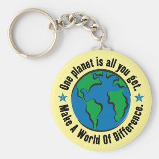 One Planet Is All You Get Key Chains