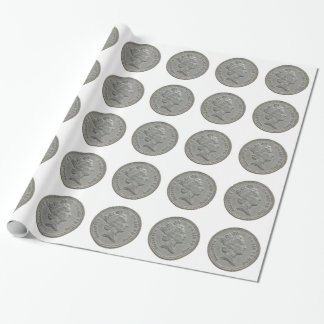 One Pound coin Wrapping Paper