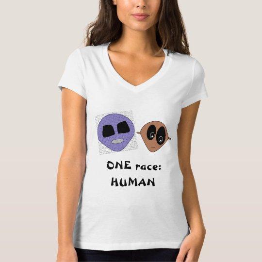 ONE race HUMAN Cute Aliens Design Inspiring T-Shirt
