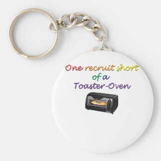 one-recruit basic round button key ring