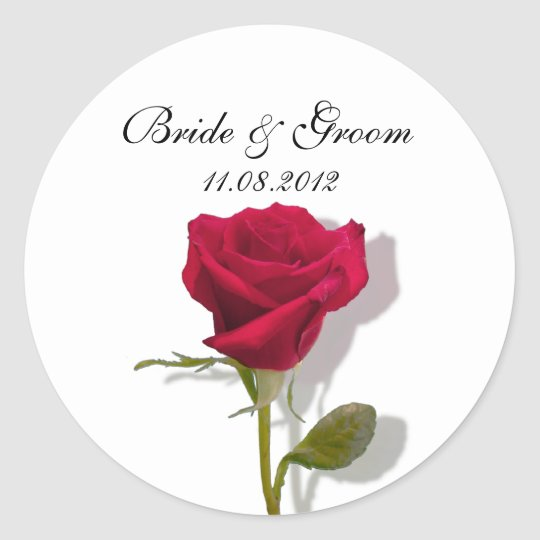 One Red Rose Classic Round Sticker