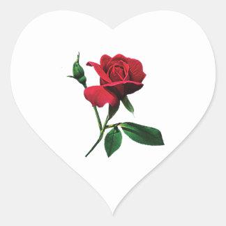One Red Rosebud Sticker