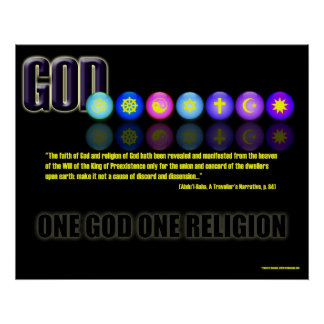 One Religion Poster