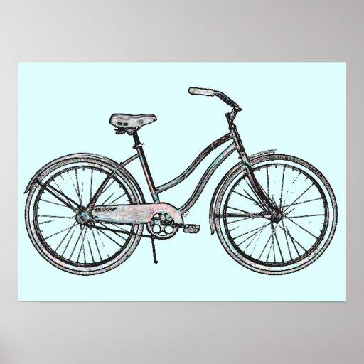 One Retro Bike Poster