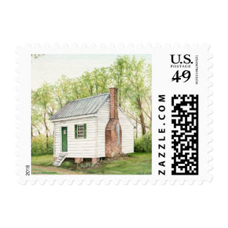 One Room House Postage Stamps