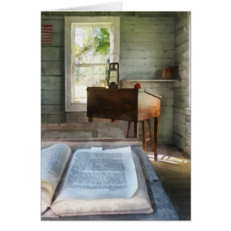 One Room Schoolhouse with Book Card