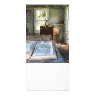One Room Schoolhouse with Book Photo Card Template