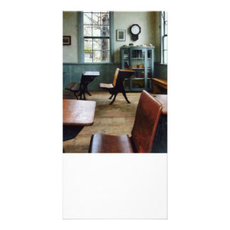 One Room Schoolhouse With Clock Personalized Photo Card