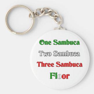 One Sambuca Basic Round Button Key Ring