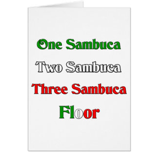 One Sambuca Card
