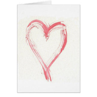 One Scratchy Heart Note Card or Greeting Card