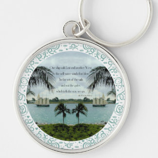 One Ship Sails East another West Key Chain
