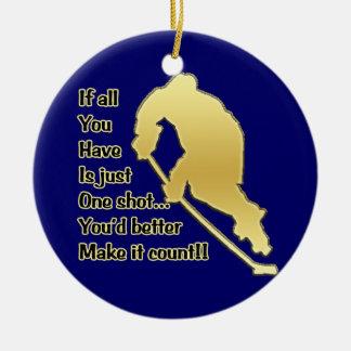 One Shot!! Hockey Tree Ornament
