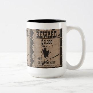 One Shot Johnson Reward Poster Two-Tone Mug