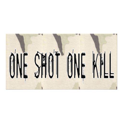 One Shot One Kill Customized Photo Card