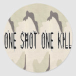 One Shot One Kill Round Stickers