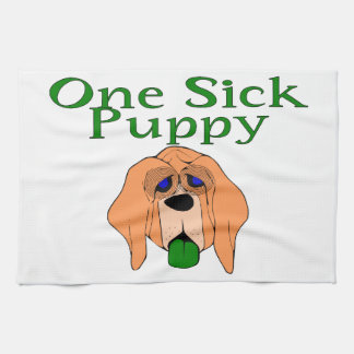 One Sick Puppy Dog Hand Towels