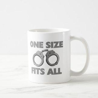One size fits all basic white mug