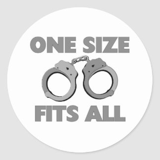 One size fits all classic round sticker