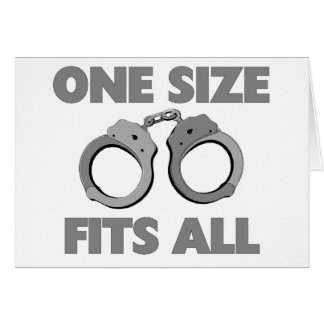 One size fits all greeting card