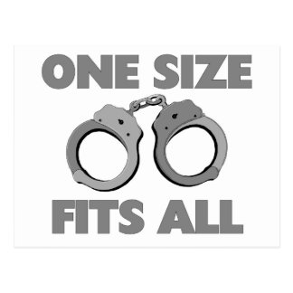 One size fits all postcard