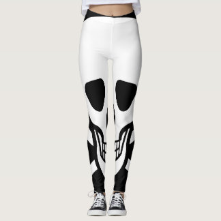One skull leggings