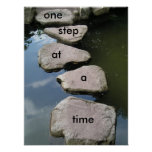 One step at a time Motivational poster