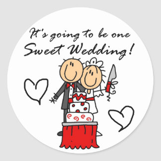 One Sweet Wedding T-shirts and Gifts Classic Round Sticker