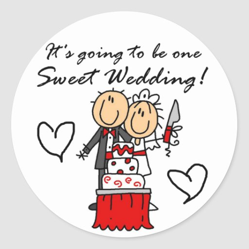 One Sweet Wedding T-shirts and Gifts Sticker