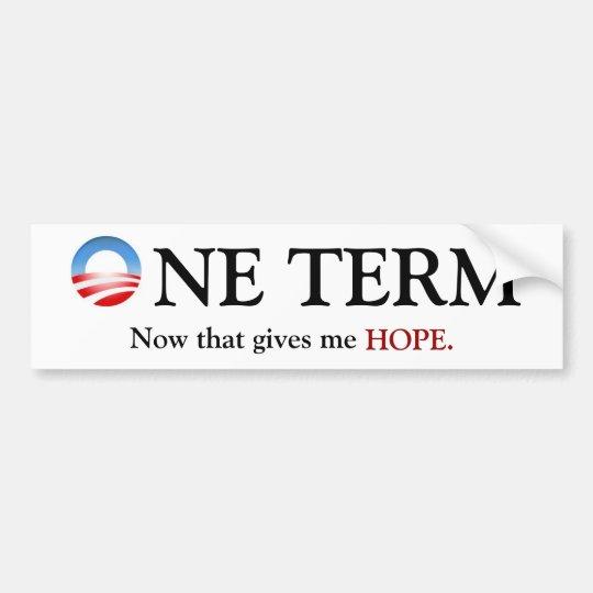 One Term Obama Bumper Sticker