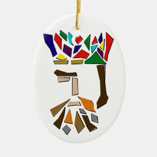One Third of Three Kings Ornament, oval Christmas Ornament
