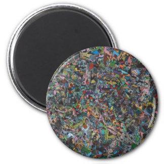 One Thousand Adventures Murals 6 Cm Round Magnet