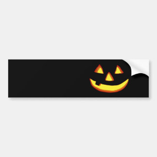 One tooth jack o lantern bumper stickers