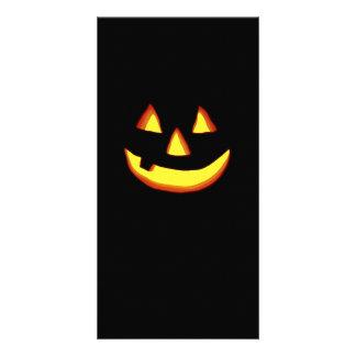 One tooth jack o lantern photo card template