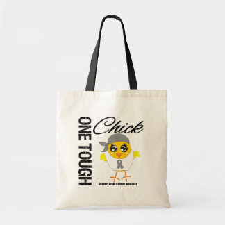 One Tough Chick Brain Cancer Warrior Budget Tote Bag