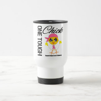 One Tough Chick Breast Cancer Warrior Stainless Steel Travel Mug