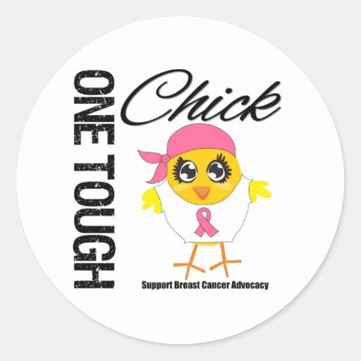 One Tough Chick Breast Cancer Warrior Sticker
