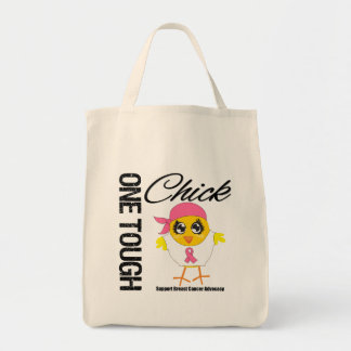 One Tough Chick Breast Cancer Warrior Grocery Tote Bag