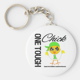 One Tough Chick Non-Hodgkin's Lymphoma Warrior Keychain