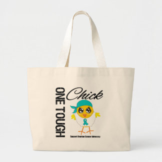 One Tough Chick Ovarian Cancer Warrior Jumbo Tote Bag