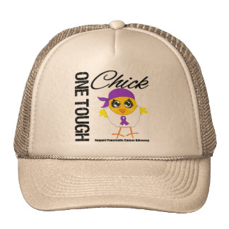 One Tough Chick Pancreatic Cancer Warrior Cap