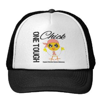 One Tough Chick Uterine Cancer Warrior Trucker Hats
