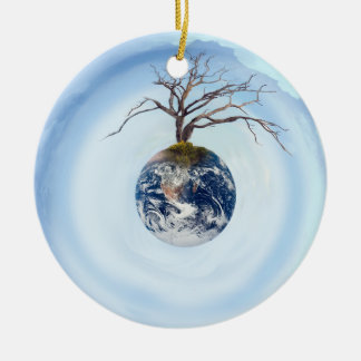 One Tree Planet Double-Sided Ceramic Round Christmas Ornament